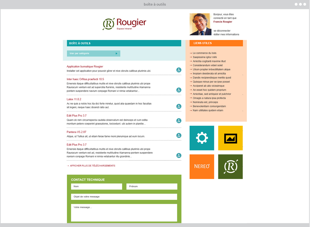 Rougier Intranet
